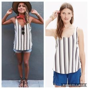 NWT Madewell S Side Slit Singlet Striped Tank